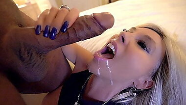 BBC Splits Wife's Pussy And Fills Her With Cum While Husband Watches