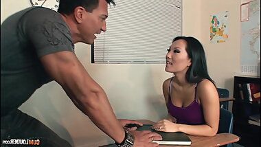 Hot asian milf has hardcore fuck in the room
