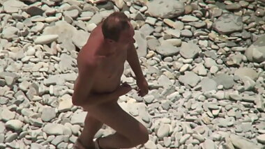Mature man for the first time on a Nude beach.