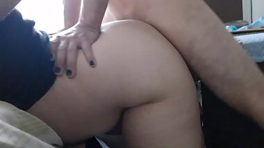 Hard fucking to a MILF pawg colombiano with a happy ending